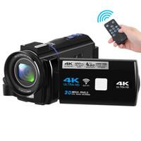 gizli video 8gb toptan satış-4 K Ultra HD 1080 P 30MP El WiFi Dijital Video Kamera Kamera Mini DV Kam