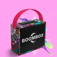 Wholesale portable speakers for mobiles resale online - M7 Wooden Speaker Wireless Bluetooth Stereo Bass Subwoofer AUX IN Graffiti Printing W Computer Speakers Support FM MIC For phone