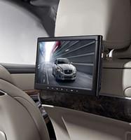 hdmi ruso al por mayor-Único reproductor de DVD del coche del reposacabezas de la pantalla de 10.1 pulgadas HD con el botón del tacto de HDMI cd usb sd FM IR transmisor mando a distancia controlador del juego negro
