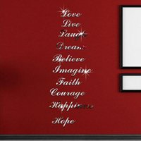 Wholesale alphabet room decor for sale - Group buy Acrylic Mirror Wall Sticker D DIY Wall stickers Alphabet English letters Home Decoration Creative Personality Special Decor