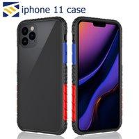 quadro transparente do iphone venda por atacado-Quadro Textura Espuma Phone Case Capa Honeycomb PC Transparente Protector à prova de choque Capa para iPhone 11 Pro Max X XR XS MAX Huawei P30 L