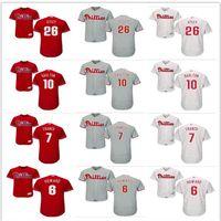 5bc44d33c 2019 custom Men's women youth Philadelphia Phillies Jersey #6 Ryan Howard  26 Chase Utley 7 Maikel Franco 10 Darren Daulton Baseball Jerseys