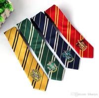 geometrische marken krawatten großhandel-Heißer verkauf Mode Neue Krawatte Bekleidungszubehör Borboleta Krawatte College Style Krawatte Harry Potter Gryffindor Serie Krawatten