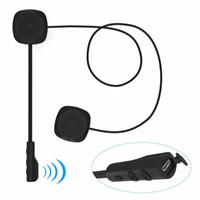 motosikletler için bluetooth kask kulaklık toptan satış-MH04 Kablosuz Bluetooth Kulaklık HIFI BT 5.0 + EDR Motosiklet Kask Kulaklık Stereo Hoparlör Handsfree Kulaklık Mikrofon Güvenli Sürm ...