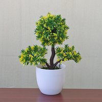 Wholesale plastic topiary trees for sale - Group buy Decorative Outdoor Ornament Ball Pot Plastic Indoor Artificial Plant Garden Home Decor Topiary Tree Party Office