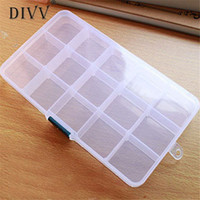 Wholesale tip nail storage box case resale online - Women Jewelry Storage Case Box Holder Container Pills plastic storage box Jewelry Nail Art Tips