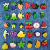 frutas ímãs venda por atacado-30 Pçs / set Fruta Vegetal Forte Neodímio Frigorífico Ímãs para Geladeira Decoração de Casa Ímã Adesivo Magnético Foto Escritório Escritório Messag