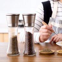 ingrosso smerigliatrice di sale-Manuale Meyjig acciaio inossidabile Sale Pepe smerigliatrice spezia bottiglia di vetro Spice Mill gadget da cucina utensili