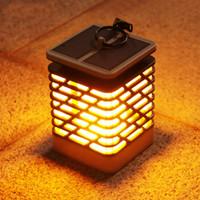 peyzaj ağaç ışıkları yol açtı toptan satış-Güneş LED Mum Alev Işık Peyzaj Ağacı Dekorasyon için Açık Bahçe Işıkları Serin Su Geçirmez IP55 Lamba
