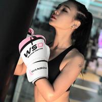 боксерские боксерские перчатки оптовых-ногами боксерские перчатки 6 унций для мужчин и женщин PU каратэ муай тай гуантес де боксео свободный бой MMA Sanda обучение взрослых детей оборудование