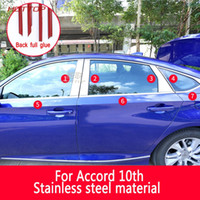 Wholesale decoration honda resale online - Top union Car styling Car External Window Sequins Decorations Stickers Door Frame Car Accessories For Honda th Accord