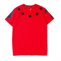 Wholesale mens cotton solid t shirts summer resale online - Summer T Shirt For Men Tops With Letters Designer Hip Hop Shirts Short Sleeve Tshirt Mens