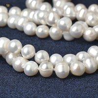 natürliche perle 48 zoll großhandel-48-Zoll-lange 100% natürliche Perlenhalskettenschmucksachen, weiße Perlenperlenhalskette des Barockart und weisecharms.