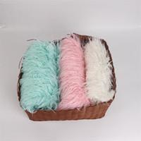 accesorios de piel al por mayor-Recién nacido Accesorios fotográficos Manta de lana Suave Cómodo Color puro Largo Felpa Alfombra de piel sintética Productos más vendidos 21js Ww