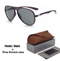 caja cuadrada de espejo al por mayor-Al por mayor - Riving Mirrored Square Retro Gafas de sol Moda para mujer Vintage para hombre Gafas de sol UV400 Goggle con estuches y estuche