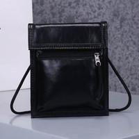 Wholesale wax oiled handbags resale online - New Arrival Mobile Phone Bag Shoulder Bag High Quality Crossbody Women Fashion Small Messenger Bag Handbags Oil Wax Doodling Wallet Purses