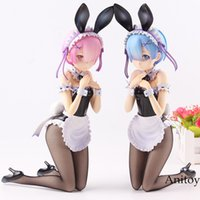 Wholesale rem anime for sale - Re life in a Different World from Zero Rem Ram Bunny Ver PVC Re Zero Anime Action Figure Collection Model Toys
