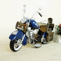 SM Iron& Metal Classic Motorcycle Model Toy, Retro Style Handmade Ornament, Xmas Kid Birthday Gift, Collecting, Bar Home Decoration, SMT5199
