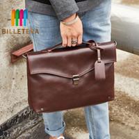 bolso de caballo loco al por mayor-BILLETERA New Crazy Horse PU Leather Tote Handbag Fashion Crossbody Shoulder Bags Messenger Bag New Briefcase