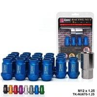 D1 Spec JDM BLACK RACING WHEEL LUG NUTS M12 X 1.25MM 20PCS For Nissan Subaru Suzuki TK-NU670-1.25