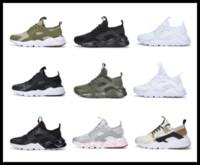 buenas zapatillas para mujer al por mayor-Tienda en línea de fábrica al por mayor unisex Huarache 4 zapatos para correr hombres mujeres de buena calidad Huarache zapatillas de deporte zapatillas de deporte de gran tamaño 45 US11