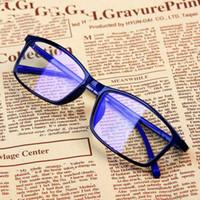 Wholesale blue spectacle frames for sale - Group buy Women Blue Film Radiation protection Glasses Frames Optica Spectacle Square Glasses Frame Men Anti Blue Light Eyeglasses