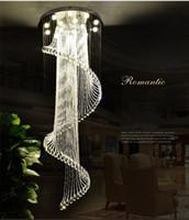luz de techo colgante en espiral al por mayor-2019 nuevas Lámparas K9 Cristal Espiral Luz de Techo Moderna Creativa LED Sala de estar Hotel Villa Luz Lámpara colgante Lámpara colgante