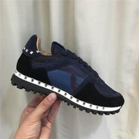 Wholesale camo shoes for sale resale online - 2020 new camo suede studded camouflage rock runner sneaker shoes for women mens stud casual cheaper sale EU36
