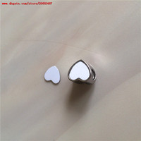 new style sublimation blank metal heart bead photo item for valentine's day gift hot transfer printing custom consumables wholesales