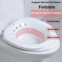 Folding Toilet Sitz Bath Tub Soaking Basin for Pregnant Women Hemorrhoid Patient Toilet Maternity Hemorrhoid