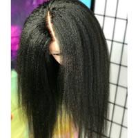 seda recta rizada al por mayor-Pelucas de cabello humano recto rizado sin cola superior de seda para mujeres negras 5 * 4.5 pelucas de encaje completo con base de seda con cabello de bebé