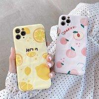 Wholesale peach iphone online – custom DHL Creative painting mobile phone case lemon peach For iphone
