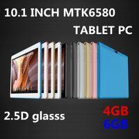 tabletas de pulgadas gps al por mayor-Alta calidad 10 pulgadas MTK6580 2.5D glasss IPS pantalla táctil capacitiva dual sim 3G GPS tablet pc 10
