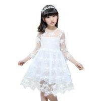 kleinkind weiße sommerkleider großhandel-Weiße Prinzessin Hochzeit Tutu Kleid Kinder Kleidung Sommer 2018 Formale Kleinkind Mädchen Partykleid für Mädchen Kleidung Kinder Kleider