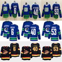 Wholesale henrik sedin jersey for sale - Group buy Vancouver Canucks Elias Pettersson Brock Boeser Bo Horvat Henrik Sedin Daniel Sedin Hockey Jersey