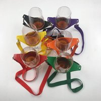 Wholesale red green glasses supply online - Wine Yoke Gift Portable Lanyard Wines Glass Holder For Bar Supplies Red Yellow Black Green Orange Purple SN2011