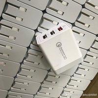 uk iphone adapter usb venda por atacado-Qc 3.0 rápido carregador de parede usb carga rápida 5 v 3a 9 v 2a adaptador de energia de viagem de carregamento rápido eua uk uk plug para iphone 7 8 x samsung huawei telefone