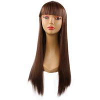 ingrosso capelli lunghi anime cosplay-Hot anime parrucca cosplay esplosione modelli moda donna lungo capelli lisci cappuccio in fibra chimica