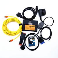 programmation usb c achat en gros de-Date V2019.03 ISTA pour BMW ICOM A2 + B + C Outil de programmation de diagnostic câble complet Support multi-langue avec DHL livraison gratuite