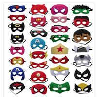 fiesta de cumpleaños de disfraces suministros al por mayor-Superhero party supplies half face eye mask baby kids children masquerade costume party fiesta de Halloween Cosplay máscaras regalo de cumpleaños