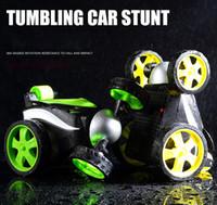 ingrosso mini rc batterie auto-Mini RC auto acrobatico alimentato a batteria Dasher 1: 24 ° modello di auto rotazione giocattoli per i bambini