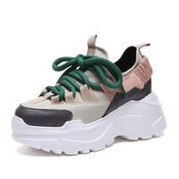 6c12fc5f044926 damen keil sneaker schuhe großhandel-Winter Plattform Turnschuhe Frauen  Schuhe Höhe Zunehmende Klumpige Wohnungen Schuhe