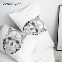 Wholesale 3d skull bedding for sale - Group buy 3D HD Pillow Case Pillowcase Custom x70 x75 x80 x70 Decorative Pillow Cover demon Skull Bedding Drop Ship