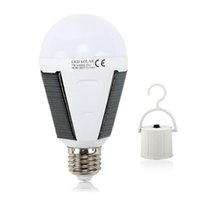 Wholesale 12w rechargeable led bulb for sale - Group buy LED Solar Lamp W W Outdoor Led Bulb AC85 V Bombillas E27 Rechargeable LED Solar Bulb IP65 Camping Emergency lighting
