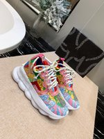 sapatos de ligação venda por atacado-Uma Reação Em Cadeia Casual Designer De Tênis Esporte Moda Sapatos Casuais Trainer Leve-Link-Relevo Sola Sem caixa wl190715