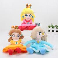 peluches princesa mario bros al por mayor-EMS Super Mario Bros 8 pulgadas 20 cm Princesa Peach Daisy Rosalina Muñeca de peluche Muñeca de peluche de juguete para niñas