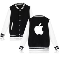 ingrosso mela mordicata-Apple Steve Jobs 4-Color Cotton Jacket Coat in Fashion Mordere Apple Funny Casual Clothing XXS 4XL