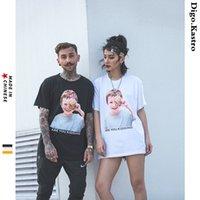 camisa crianças casal t venda por atacado-2019 Bonito Criança Avatar T-shirt Caráter Criativo Impressão de Manga Curta Homens / Mulheres T-shirt Casual Streetwear Casal