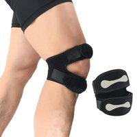 cinta de correa del cinturón al por mayor-Apoyo para las rodillas de fitness Patella Belt Elastic Bandage Tape Sport Correa Knee Pads Protector Band For Brace Football Sports # 296754