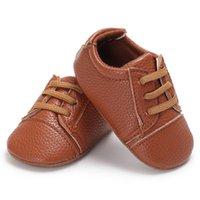 sapatas de passeio das meninas primeiras venda por atacado-Sports Baby Shoes Criança PU Anti-Slip Boy Meninas Sapatilhas Sneakers Soft Soled Primeiro Caminhantes Andando